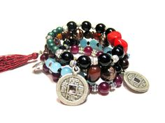 Elastic Bohemian Beaded Stackable Stretch Bracelet by HippieThings, $24.00