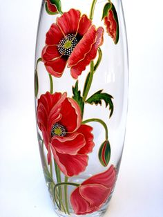 Fabulous Tricks Can Change Your Life: Flower Vases Mothers vases decoration tips.Vases Ideas How To Make. Painted Glass Vases, Wooden Vase, Painted Wine Glasses, Clay Vase, Ceramic Vase, Vase Transparent, Glass Painting Designs, Vase Design, Vase Crafts