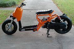 Ruckus for Amber Custom Mini Bike, Scooter Custom, Custom Bikes, Moto Bike, Motorcycle Bike, Custom Honda Ruckus, Honda Legend, Honda Scooters, Bobber