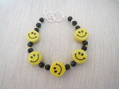 Choice of Happy Face Porcelain Bracelets or Pink Wood Pendant Earring Set - pinned by pin4etsy.com