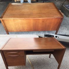 Also do furniture repair/refinishing. A before and after picture of a desk we recently did for a customer. #wacowoodworks #waco #wacotown #wacotx #furniturerestoration