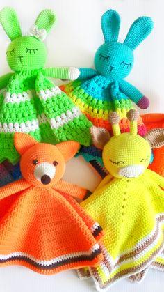Diy Crochet And Knitting, Crochet Bunny, Crochet Ideas, Handmade Ideas, Handmade Toys, Crochet Patterns Amigurumi, Knitting Patterns, Giraffe Toy, Unique Crochet
