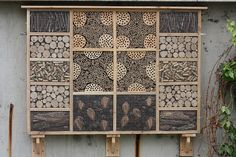 This is the bug box (or insect hotel) I was commissioned to make for display at the National Archives at Kew.very neat and tidy. Garden Bugs, Garden Insects, Garden Pests, Bug Hotel, Mason Bees, Bee Boxes, Beneficial Insects, Garden Projects, Bird Houses