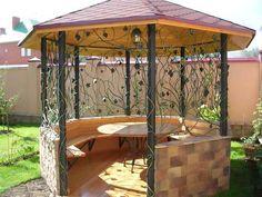 The outdoor gazebo design has advanced to combine fashion as well as function. When you decide to add an outdoor gazebo design […] Diy Pergola, Retractable Pergola, Backyard Gazebo, Pergola Shade, Backyard Landscaping, Pergola Kits, Pergola Roof, Round Gazebo, Large Gazebo
