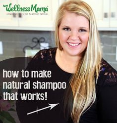 How to Make Natural Shampoo - this homemade DIY natural shampoo requires only four ingredients and cleans the hair without stripping natural oils. Make Natural, Natural Beauty Tips, Natural Oils, Natural Hair Styles, Natural Skin, Beauty Care, Diy Beauty, Beauty Hacks, Beauty Skin