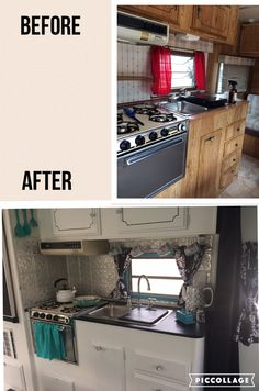 2 months ago I bought an old caravan (camping trailer). She looked sad and in much need of some TLC. With many hours of dedicated hard work she was transformed. Trailer Interior, Camper Interior, Tiny Camper Trailer, Caravan Decor, Caravan Renovation, Travel Trailer Remodel, Camper Makeover, Remodeled Campers, Camper Ideas