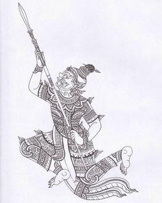 วิรุญมุข (ที่มาภาพ หนังสือ ยักษ์ในรามเกียรติ์ ชุด พรหมพงศ์และอสูรพงศ์ต่างเมือง) Filipino Tribal Tattoos, Hawaiian Tribal Tattoos, Thai Tattoo, Maori Tattoos, Cross Tattoo For Men, Drawing Sketches, Drawings, Nordic Tattoo, Samurai Tattoo