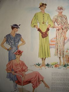 1935 McCalls PATTERN ADVERTISEMENT 1930s Fashion Vintage Advertisement Frocks Home Decor Fashion Wall Art Ready To Frame. $7.50, via Etsy.