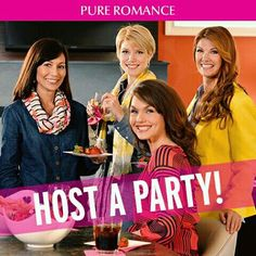 Be a hostess... When being a Pure Romance hostess you receive a Free gift and 10% of your party sales towards your shopping spree  www.jovitaphillips.pureromance.co.za