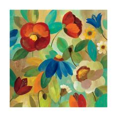 Abstract floral , Lithographs and Prints at Art.com