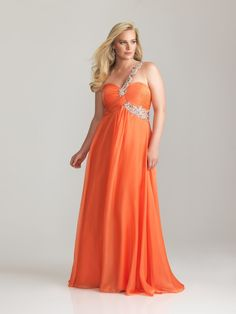 A-line One Shoulder Floor-length Chiffon Plus Size Evening Dresses Prom Dress Cheap 00201027