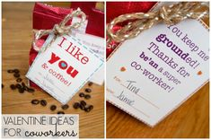 #valentines co worker gift ideas Share the Love #11: I like you and coffee! {valentine ideas for coworkers}