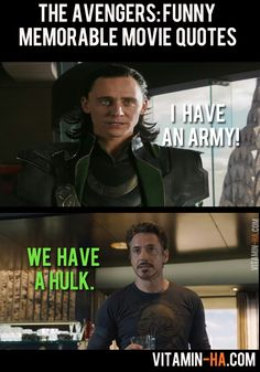 The Avengers Funny Memorable Movie Quote