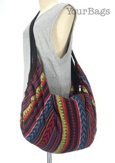 3bb0c2b653 18.99  Tote bag Backpack Nepali cotton Hobo Large bag Crossbody Purse  Tribal Shoulder Bag Hippie bag Bohemian Handmade bag