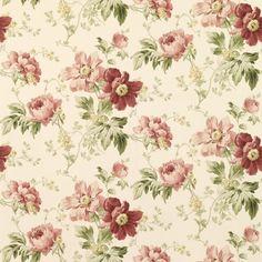 Peony Garden Cranberry Wallpaper