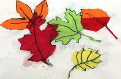 Fall Leaves in Tissue Paper