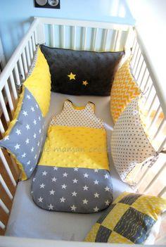 Idéee DIY tour de lit avec coussins