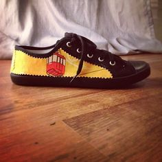 """custom """"Cable Cars"""" shoes for the fabric shoot. By Ben The Illustrator"""