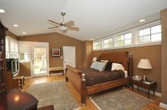 Master Bedroom Addition- I like the small windows, maybe instead of the door do a snugly alcove to read in :-)
