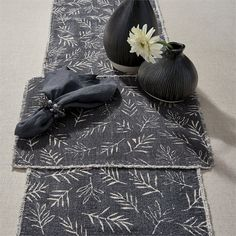 Slate Avery Table Runner from Split P. Natural Home Decor, Earth Tones, Table Runners, Slate, Decorative Boxes, Products, Decorative Storage Boxes, Beauty Products