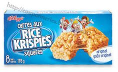 Coupons et Circulaires: 1$ Carrés RICE KRISPIES Rice Cereal, Cereal Bars, Snack Recipes, Snacks, Snack Bar, Granola Bars, Pop Tarts, Sweet Treats, Lunch Box