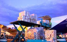 Atlas Air Boeing 747 freighter loading cargo