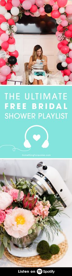 Listen to the most lovely, sweet and romantic Bridal Shower Playlist for FREE on Spotify! // flowers by Little Miss Lovely Floral Design @misslovely
