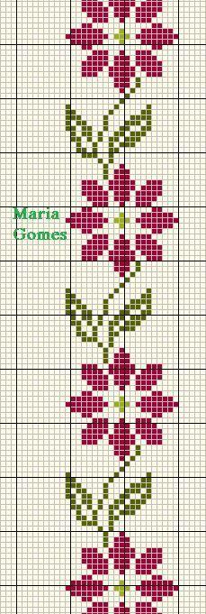 Linhas e Pontos: Os Meus Gráficos de Ponto Cruz Cross Stitch Bookmarks, Mini Cross Stitch, Simple Cross Stitch, Cross Stitch Rose, Cross Stitch Borders, Cross Stitch Flowers, Cross Stitch Charts, Cross Stitch Designs, Cross Stitching