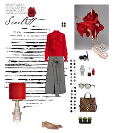 """""""Untitled #729"""" by xocolate ❤ liked on Polyvore featuring Camp, Pols Potten, Christian Louboutin, Clare V., Ray-Ban, Rolex, Stella Jean, Rochas, PAM and Allurez"""