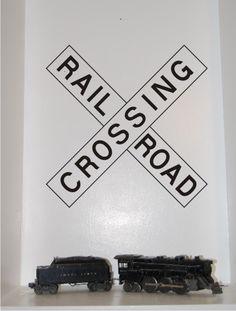 cute  sc 1 st  Pinterest & Railroad Train Track Wall Decal: Straight u0026 Curved Train Room Decor ...
