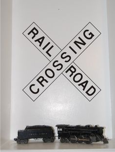 Railroad Crossing decal