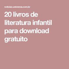 20 livros de literatura infantil para download gratuito