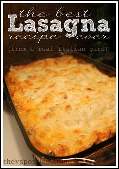 The best lasagna recipe.