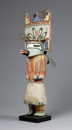 "Tiwenu katsina ""before 1933"" Hopi Hopi katsina (kachina) doll of Tiwenu, before 1933. The Tiwenu katsina represents the Laguna or Santo Domingo people. Collected by John L. Nelson."