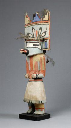 "Tiwenu katsina ""before 1933"" Hopi Hopi katsina (kachina) doll of Tiwenu, before 1933. The Tiwenu katsina represents the Laguna or Santo Domingo people. Collected by John L. Nelson."