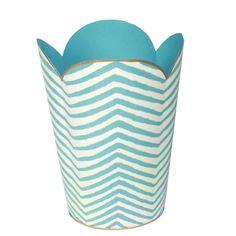 Blue wastebasket