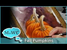 Fall Pumpkins in Watercolor and Background Wash Techniques – Paint With Me - YouTube
