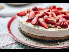 Cheesecake, Food And Drink, Youtube, Foods, Food Food, Food Items, Cheesecakes, Youtubers, Cherry Cheesecake Shooters