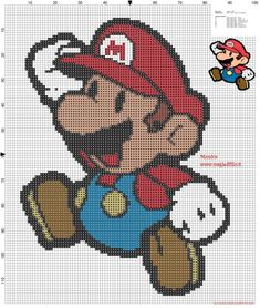 Mario Bros cross stitch pattern - free cross stitch patterns