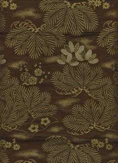 Mid to Late Meiji (1880-1911). A soft, deep-green brocaded Nishijin silk antique uchikake.