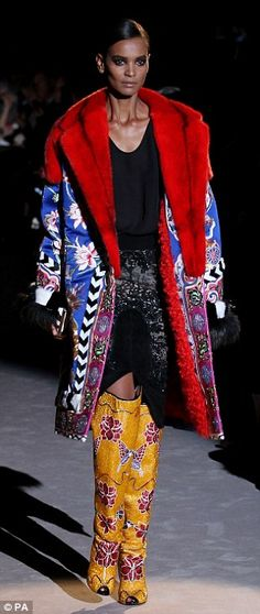 Confident: Ford was bold in his use of colour and folkloric floral motifs