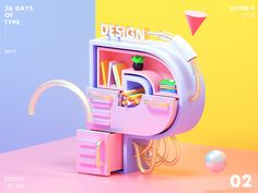 LETTER P designed by MK. Motion Design, Design Ios, Graphic Design, Design Thinking, 3d Poster, 3d Type, 3d Letters, 3d Artwork, Typography Inspiration