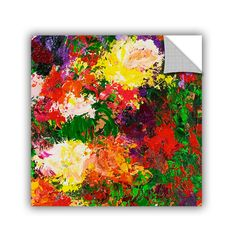 ArtWall ArtAppealz Allan Friedlander 'Wisteria And Roses' Removable Wall Art