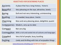 Forum | . | Fluent LandAdjectives for Describing Places | Fluent Land