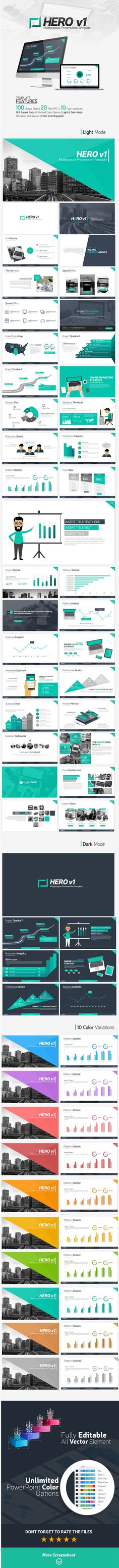 Business idea powerpoint template powerpoint presentation cool hero powerpoint presentation template only available here httpgraphicriveritemhero v1 presentation template16318628refpxcr toneelgroepblik Images