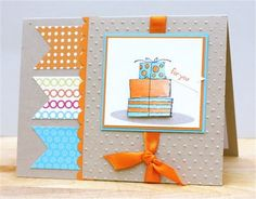 A bright and festive handmade birthday card, and a promotion!