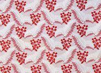 Historiska sidentyger Red And White