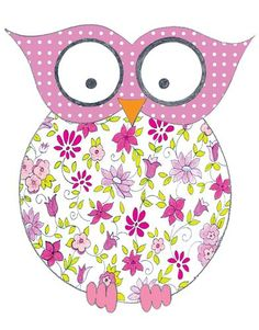 pink owl from Stupell Industries