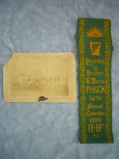 Irish National Foresters INF Sash, Pin & Photograph Ireland 1916 in Antiques, Antiquities, Irish | eBay