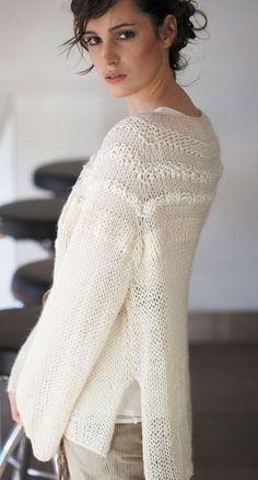 pull à tricoter été